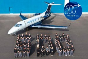 Phenom 300 da Embraer é o jato executivo leve mais entregue do mundo pelo oitavo ano consecutivo