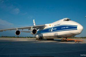 Antonov 124-100 pousa no Aeroporto de Natal pela primeira vez