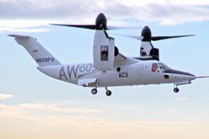 Programa do AW609 avança em direção aos testes em condições de formação de gelo
