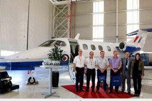 Embraer entrega do primeiro Phenom 100 para o programa Military Flight Training System do Reino Unido