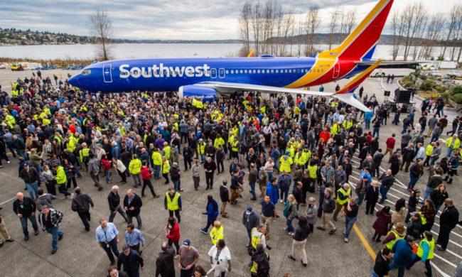 Prêmio GUINNESS WORLD RECORDS para a Boeing pelo 10. 000.º avião 737