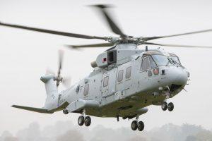"""O primeiro AW101 Merlin Mk4 para a """"Royal Navy"""" realiza voo inaugural"""
