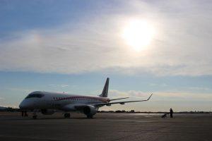 O MRJ chega ao centro de testes de voo nos Estados Unidos