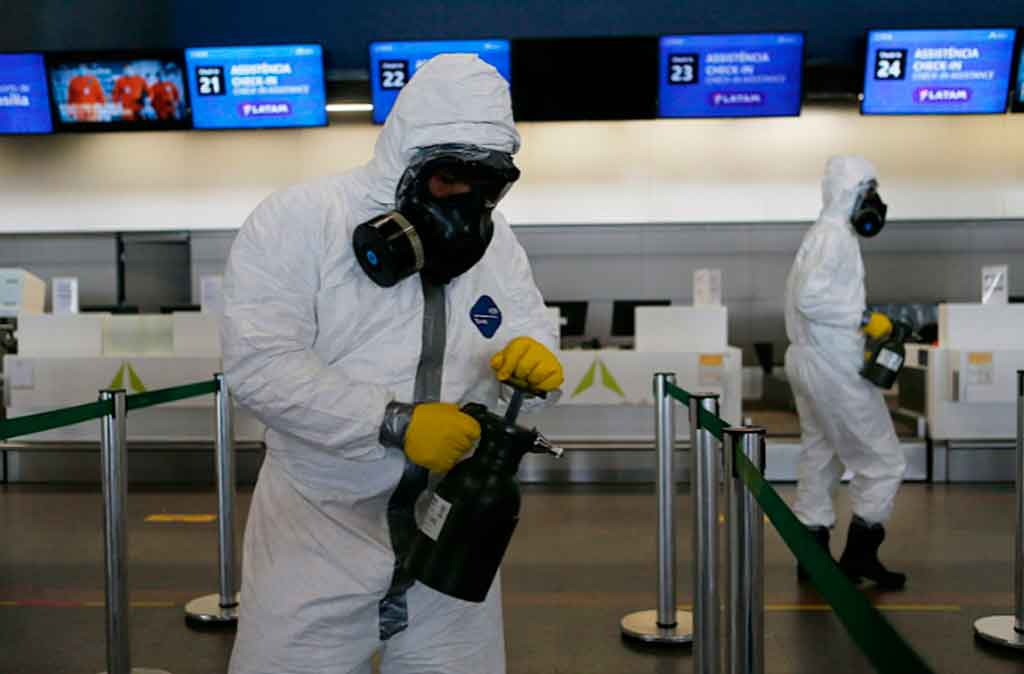 desinfeccion, Aeropuerto de Brasillia