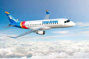 Congo Airways altera pedido do Embraer E175 para E190-E2