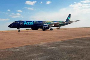 Azul passa a voar para Sinop com o maior avião já fabricado no Brasil