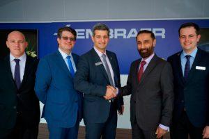 Embraer autoriza Falcon Aviation a expandir suporte para Legacy 600/650 e Lineage em Dubai