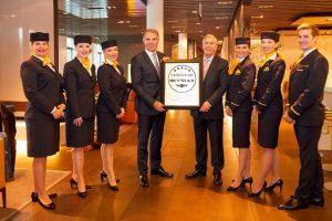 Lufthansa é a única companhia aérea de cinco estrelas na Europa