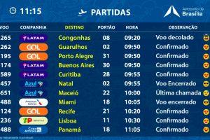 Aeroporto de Brasília inova no design dos painéis informativos de voos