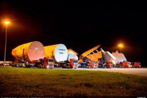 Principais partes para montar primeiro A380 da ANA chegam a Toulouse