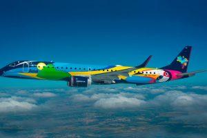 Azul participa do International Brazil Air Show e expõe aeronave com pintura especial